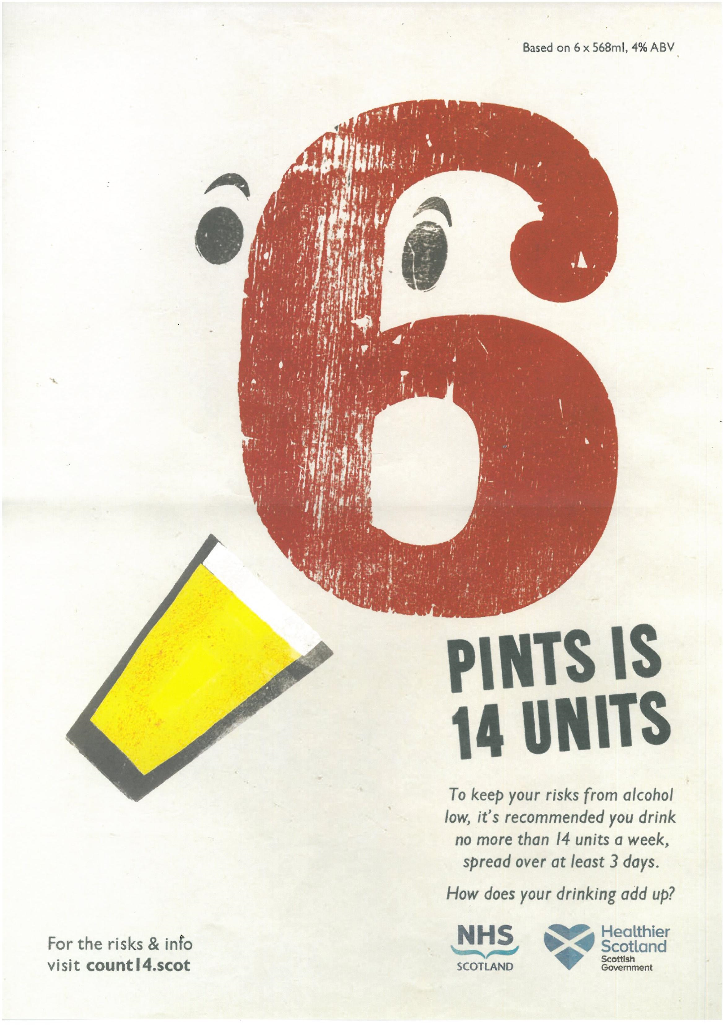 Count14 6 Pints Poster
